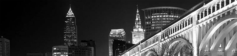 cleveland skyline. Cleveland skyline